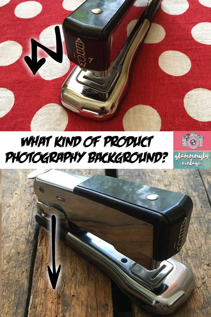 What Kind of Product Photography Background Should You Use? I was doing some of the product photography for our new Glamorously Vintage store and (of course) the first thing that came up was what kind of backgrounds was I going to use for all the pictures.