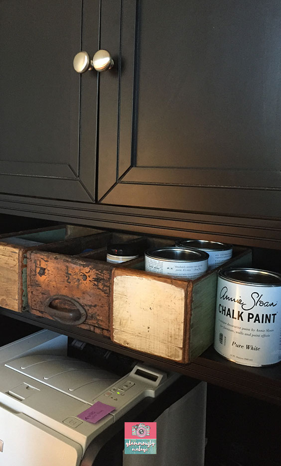 Old Wooden Drawers.... Part of My 12 Ways To Use Vintage In My Office Blog Post!