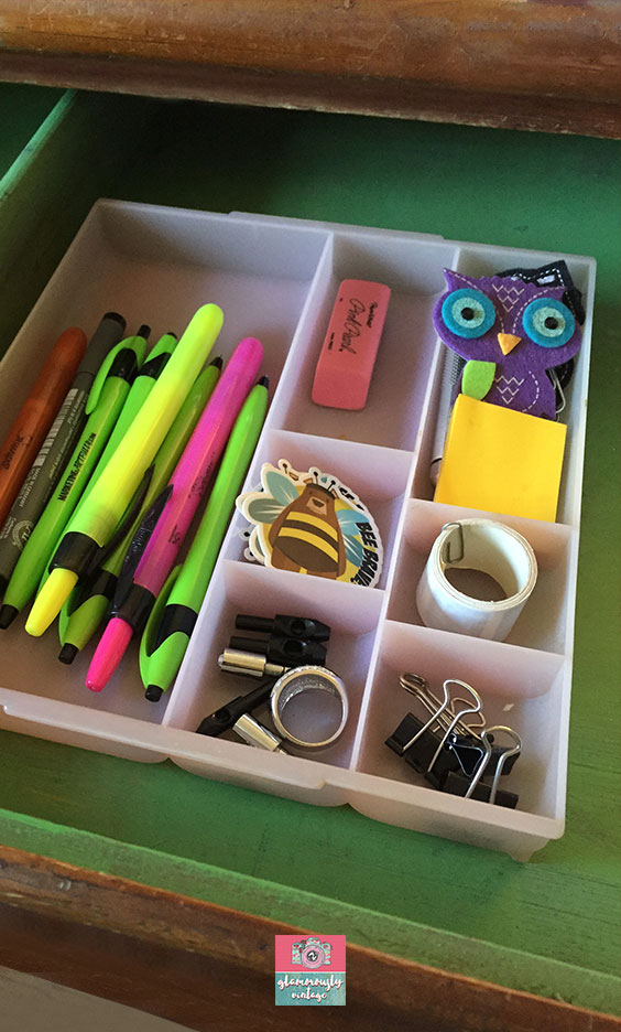 Melamine Plastic Pencil Trays.... Part of My 12 Ways To Use Vintage In My Office Blog Post!