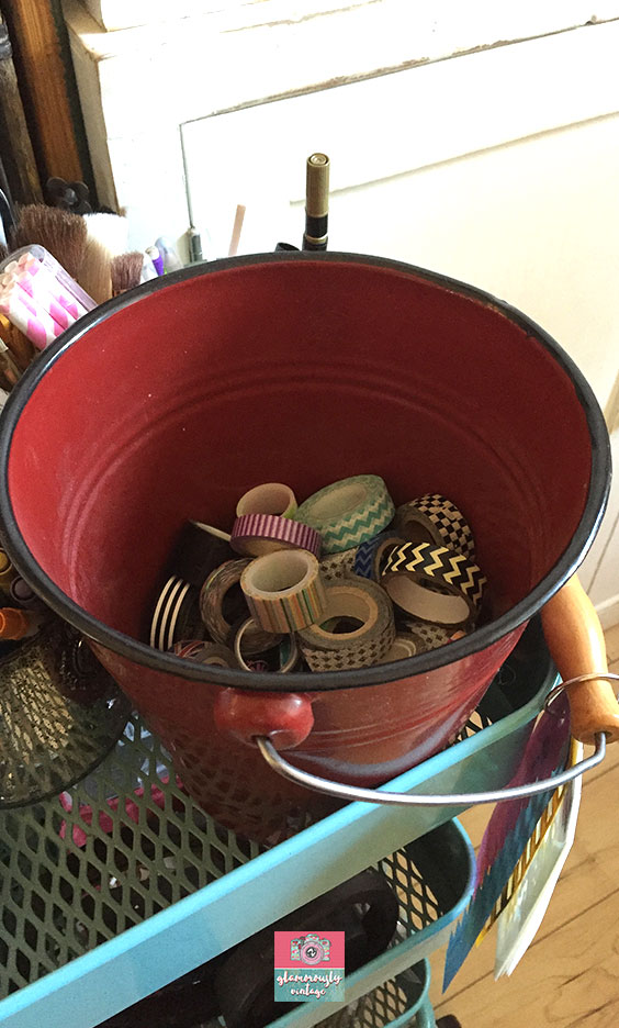 Old Metal Buckets.... Part of My 12 Ways To Use Vintage In My Office Blog Post!