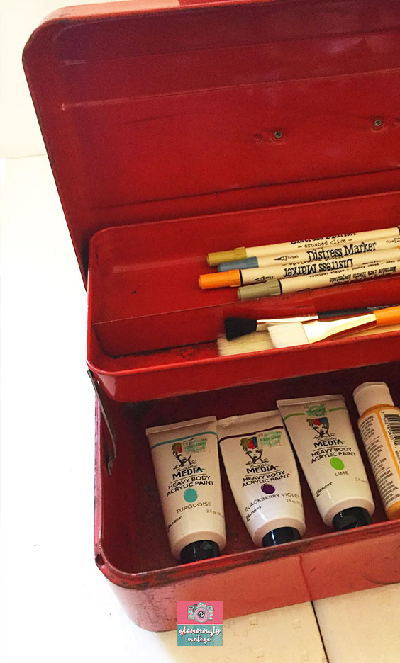 Old Man Tackle Boxes.... Part of My 12 Ways To Use Vintage In My Office Blog Post!