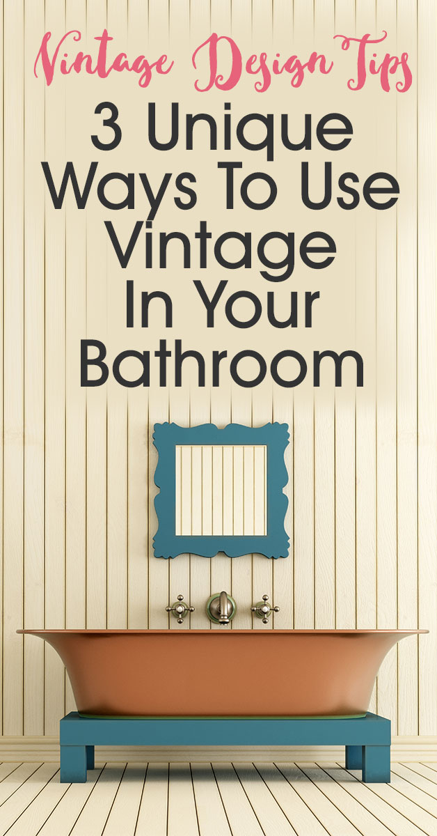 3 Unique Ways To Use Vintage In Your Bathroom | Repurposing different items can be a great way to integrate vintage into your bathroom. Instead of just finding some old looking faucets and cabinet knobs think outside the box. For instance, use an old step ladder as a great way to store towels and knick knacks under a pedestal sink.