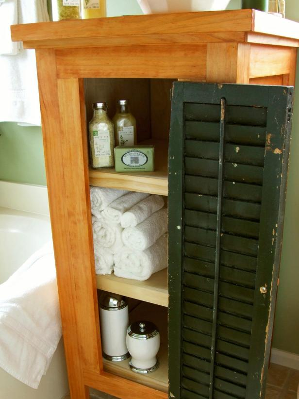 Shutters Used As Cabinet Doors - DIY Network