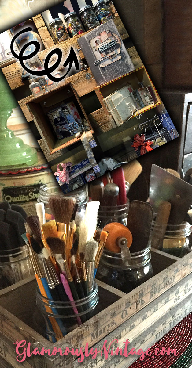 "Super Cool Tim Holtz Inspired Vintage Office Organizing | Tim Holtz has fantastic ideas on how to use vintage in such amazingly cool ways! With that in mind, I thought it might be fun to see how I incorporate ""Tim Holtz Style"" in my home office organizing!"