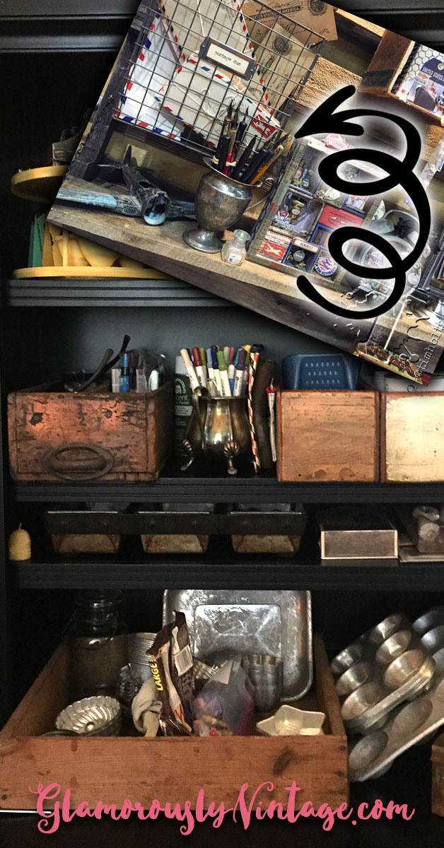 """Super Cool Tim Holtz Inspired Vintage Office Organizing 