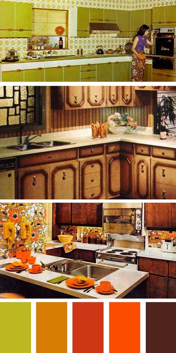 1970s kitchen colors - 1970s Kitchen