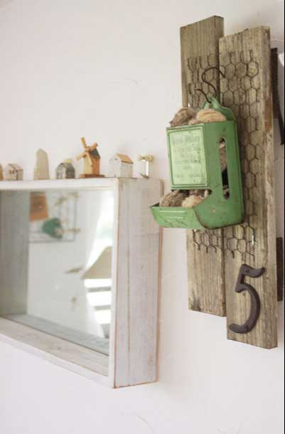 Green Matchstick Holder - An Eclectic Office or Craft Room - 15 Great Examples of Fun and Vintage Office Organizing Ideas