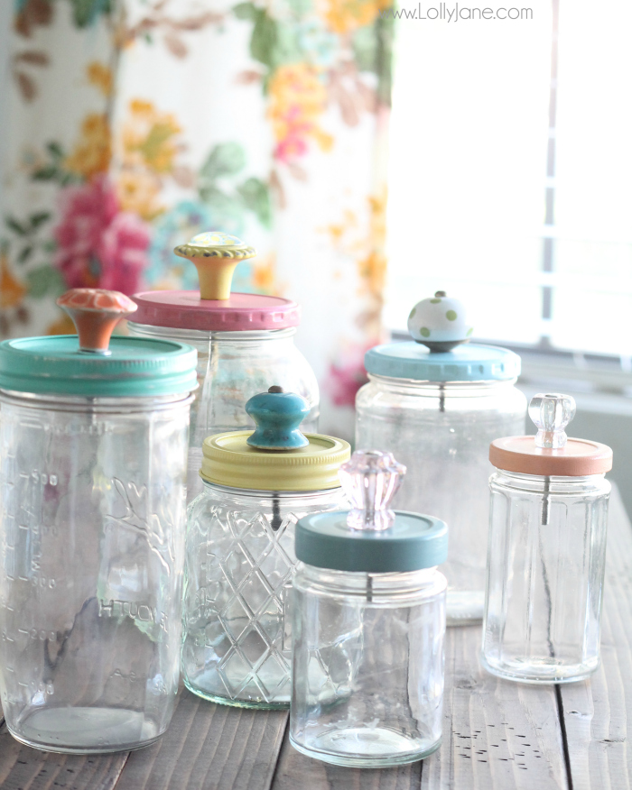 Lollyjane Cute Old Jars - An Eclectic Office or Craft Room - 15 Great Examples of Fun and Vintage Office Organizing Ideas