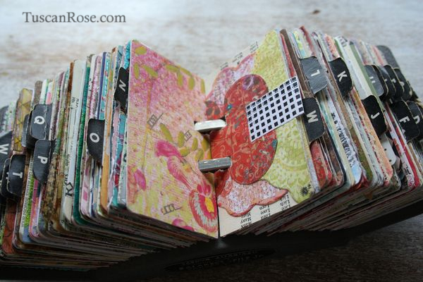 Rolodex Scrapbook - An Eclectic Office or Craft Room - 15 Great Examples of Fun and Vintage Office Organizing Ideas