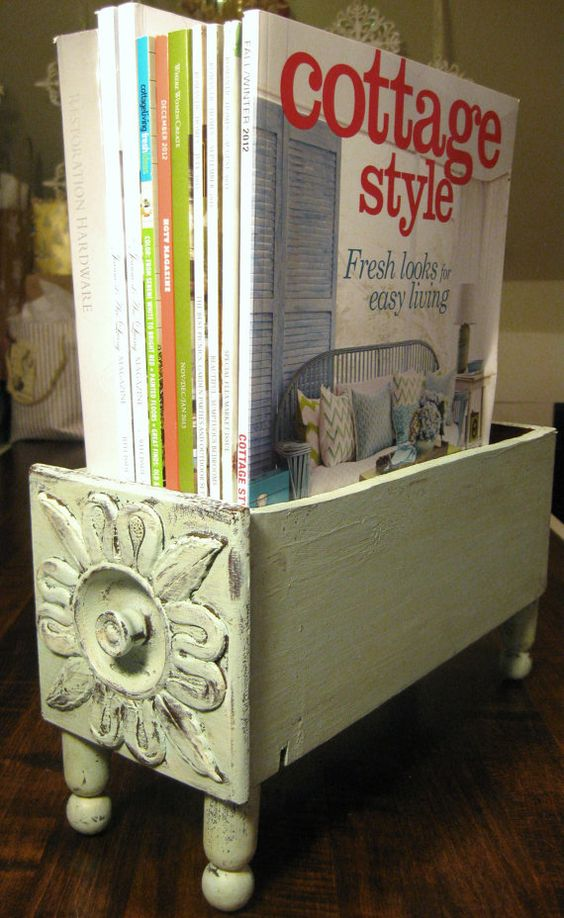 Upcycled Wooden Drawer - An Eclectic Office or Craft Room - 15 Great Examples of Fun and Vintage Office Organizing Ideas
