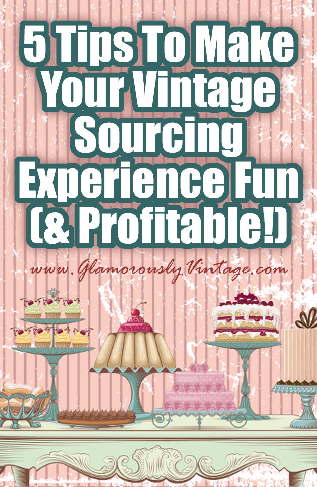 5 Tips To Make Your Vintage Sourcing Experience Fun (and Profitable!) When you are sourcing vintage for either an Ebay or Etsy shop there are some key things to think about that can make your shop more fun and profitable. After spending the last few years sourcing, I have some hot tips!