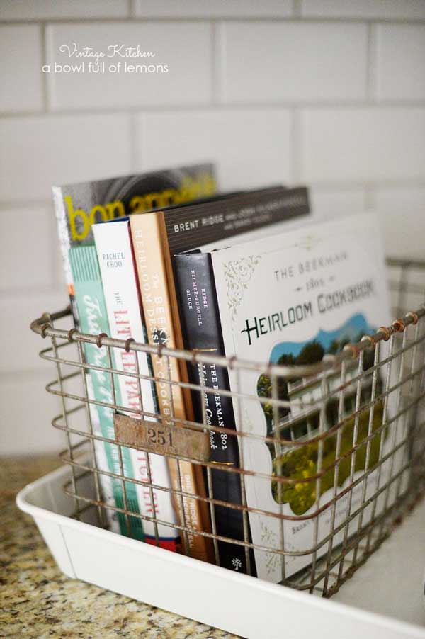 Wire Mesh Box Office Organization - An Eclectic Office or Craft Room - 15 Great Examples of Fun and Vintage Office Organizing Ideas