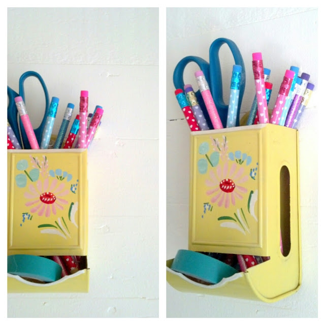 Yellow Match Holder - An Eclectic Office or Craft Room - 15 Great Examples of Fun and Vintage Office Organizing Ideas