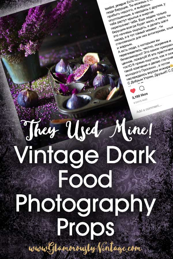 They Used Mine! Vintage Dark Food Photography Props...Oh my gosh... an amazing photographer used my vintage dark food photography props! Her photo is stunning and I am over the moon.