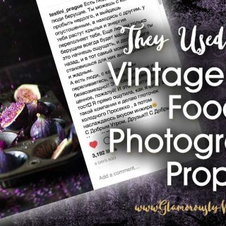 They Used Mine! Vintage Dark Food Photography Props